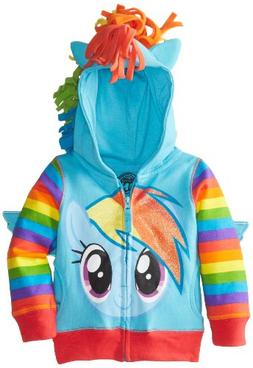 My Little Pony Girls' Rainbow Dash Hoodie 3T