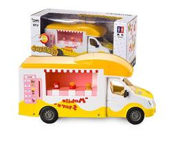 RC Car Fast Food Truck Charging Electric Vehicle For Kids Bo