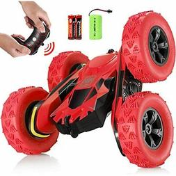 SGILE RC Stunt Car Toy, Remote Control With 2 Sided 360 Rota