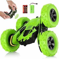 RC Stunt Car Toy, Remote Control With 2 Sided 360 Rotation F