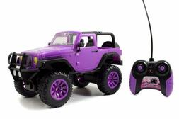 Wrangler Jeep Big Foot Doll Car Purple Vehicle Remote Control Girls Gift