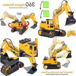 Remote Control Excavator Toy Truck RC Construction Vehicles