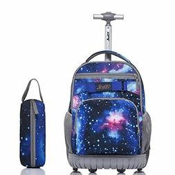 Tilami Rolling Backpack 18 Inch for School Travel with Penci