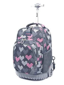 Tilami Rolling Backpack Armor Luggage School Travel Book Lap