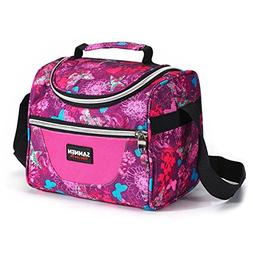 School Lunch Bag, Reusable Insulated Lunch Box Tote Bag for