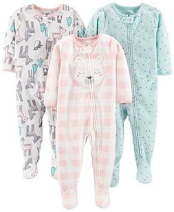 Simple Joys by Carter's Girls' Toddler 3-Pack Loose Fit Flam