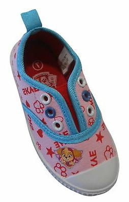 Paw Patrol Skye Girls Laceless Canvas Shoes