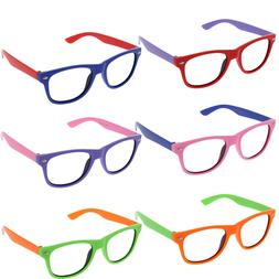 Small KIDS SIZE Retro Frame Clear Lens Glasses NERD Classic