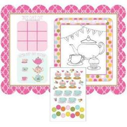 TEA TIME ACTIVITY PLACEMATS WITH STICKERS 25.4X35.5CM