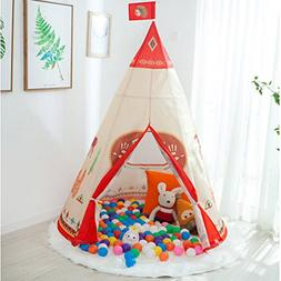 Anyshock Teepee Tents for Kids, Kids Indian Tipi Tent Play H