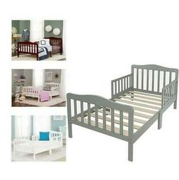 Toddler Bed for Kids Toddler Size Bed Wood W/ Safety Guardra