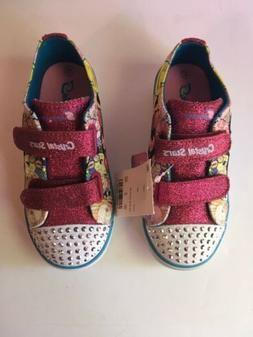 Toddler Girls' S Sport by Skechers Glimmer Stars Light up Sn
