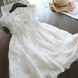Toddler Kids Baby Girl Summer Sleeveless Princess Lace Bow D