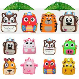 Toddler Kids Girls Boys Baby Cartoon Schoolbag Small Shoulde
