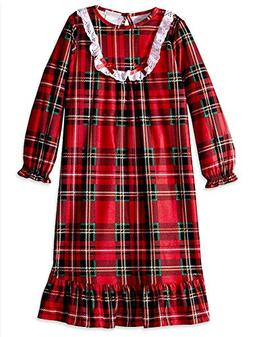 Komar Kids Girls Traditional Holiday Christmas Plaid Nightgo 97b48aa81