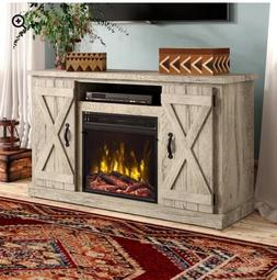 """TV Stand for TVs up to 55"""" with Fireplace- Ashland Pine colo"""