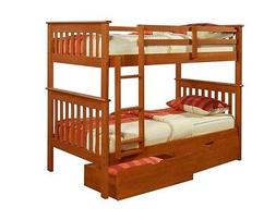 Donco Kids Twin over Twin BUNK BED -Boys & Girls Espresso