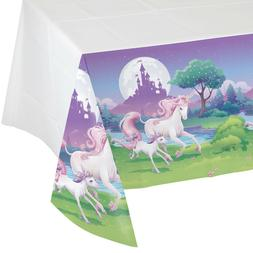 Creative Converting Unicorn Fantasy Border Print Plastic Tab