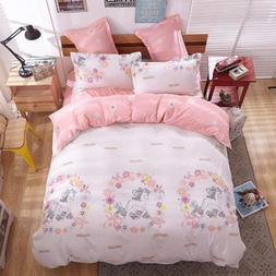 Unicorn Princess Bedding Twin Pink Kids Girl Duvet Cover For