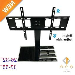 Universal Tabletop TV Stand Pedestal Base Swivel Wall Mount