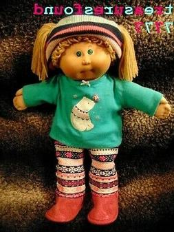 """Cabbage Patch Kids Vintage 16"""" Girl Doll/WinterPolarBearTop/"""