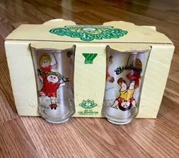 Vintage 1984 CPK Cabbage Patch Kids Drinking Glasses NIP Fre
