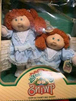 Vintage 1985 CABBAGE PATCH KIDS TWIN GIRLS RED HAIR AND GREE
