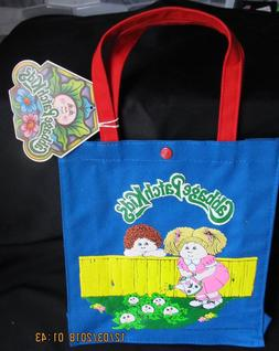 Vintage Cabbage Patch Kids Blue Tote Bag from 1983 Girls App