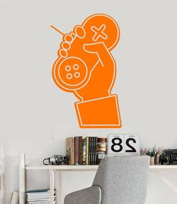 Vinyl Wall Decal Gamer Hand Joystick Console Video Game Stic