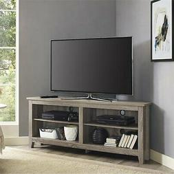 "We Furniture W58CCRAG 58"" Wood Tv Media Stand Storage Consol"