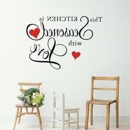 Foal Wall Quote Sticker This Kitchen is Seasoned with Love