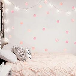 Watercolor Polka Dot Wall Decals Pink Dots Wall Sticker for