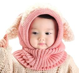 Baby Girls Boys Winter Hat Scarf Earflap Hood Scarves Skull