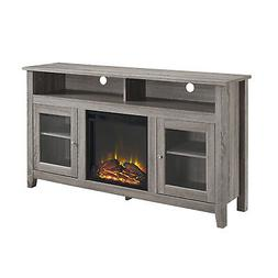 "W. Designs 58"" Wood Highboy Fireplace TV Stand"