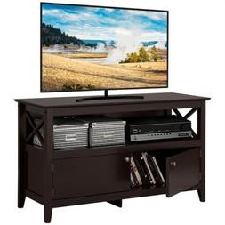 "Wood Panel 41.7"" TV Stand, 3-Shelves 2-Doors Entertainment C"