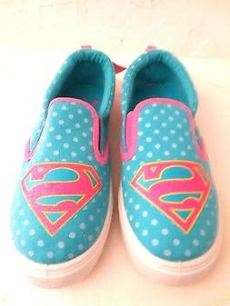 """SUPERGIRL - Youth Girls Size """"3"""" GREEN/PINK  Premium Heavy D"""